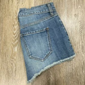 OLD NAVY Boyfriend Mid Rise Blue Denim Cut Off
